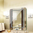 Anti-fog Bathroom LED Light Illuminated Mirror Wall Mounted Mirror 3 Brightness