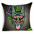 Cute Dog Cotton Linen Pillowcase Throw Pillow Cover Sofa Cushion Cover Home Deco