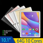 64GB 10 Core Tablet PC Bluetooth 4.0 Wi-Fi 4G RAM Camera Screen 10'' Android 8.1