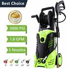 Gas Powered Pressure Washer Cold Water 3600 PSI 2.8GPM 7HP Multi Pattern Cleaner