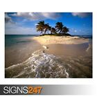 SANDY ISLAND CARIBBEAN (3286) Beach Poster - Photo Poster Print Art * All Sizes