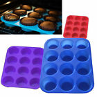 12 &6 SILICONE LARGE MUFFIN YORKSHIRE PUDDING MOULD CUPCAKE BAKING TRAY BAKEWARE