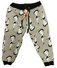 Betty Boop Women's Sweatpants Joggers Grey Black White Size S-XL $14.99 USD on eBay