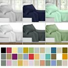 Super Soft 4 Piece Bed Sheet Set Deep Pocket Bedding - All Colors Sizes MY image