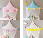 Kids Teepee Cotton Bed Tent Canopy Foldable Crib Tent Baby Room Decor Props image
