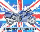 TRIUMPH SPRINT ST MOTORCYCLE MOTORBIKE METAL SIGN TIN PLAQUE OTHERS LISTED 649 €7.97 EUR on eBay