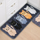 Cartoon Cute Cats Bathroom Bedroom Floor Mat Non-slip Absorbent Soft Shower Rug