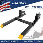 "1500lb/4000lb Tractor Pallet Forks Bucket Clamp On 43""/60"" For Skid Steer Loader"