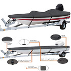 Trailerable Boat Cover With Support Pole Heavy Duty Marine Boating Water Resista