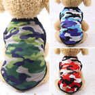 FA- Puppy Summer Cotton Camouflage Vest T-shirt Clothes Outfits Pet Dog Top Gift