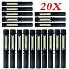 COB LED Pocket Pen Light Inspection Work Light Flashlight Magnetic Torch w/ Clip