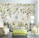 3D Retro Simple Leaf Self-adhesive Removable Wallpaper Feature Wall Mural 17