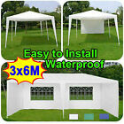 3 x 6m Party BBQ Tent Gazebo Marquee Patio with Unique WindBar and Side Panels