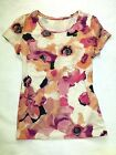 ANN TAYLOR Floral Solid Stripe Prnt Tank Short Cap Sleeve KNIT TOP Shirt TEE M L