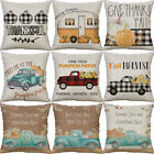 "18"" Pumpkin Cotton Linen Sofa Waist Cushion Cover Pillow Case Home Decor"