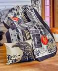 Gothic Nevermore Halloween Throw Pillow Quilted Throw Blanket Raven Spider Webs image