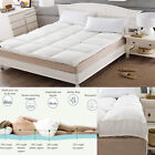 NEW 10cm 4 INCH THICK MICROFIBER MATTRESS TOPPER DEEP BED PAD MAT HOME HOTEL