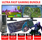 Gaming PC Bundle Intel Core i7 8GB 1TB GT710 DUAL SCREEN Windows 10 ULTRA FAST  <br/> GAMING KEYBOARD & MOUSE & 12 MONTH WARRANTY