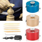 Electric Pottery Making Machine Mini Clay Making Ceramic Art DIY with Metal Body image