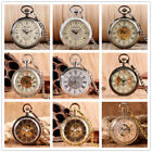 Retro Open Face Hand Winding/Automatic Mechanical Pocket Watches Pendant Chain image
