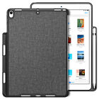 For iPad Air 3rd 10.5'' 2019 Soft TPU Case Cover Built-in Apple Pencil Holder