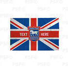 Ipswich Town FC Official Personalised Union Jack Crest ITFC Football Flag IB013