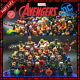 Marvel DC Comics Super Heroes 500 Building Block LEGO Minifigures X-Men Avengers photo