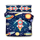 Robot ET Rocket Astronaut Plane Car Ship Beacon Bedding Duvet Quilt Cover Set