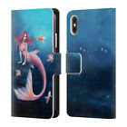 RACHEL ANDERSON MERMAIDS LEATHER BOOK WALLET CASE COVER FOR APPLE iPHONE PHONES
