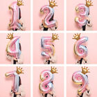 Kyпить 32 inch Crown Number Foil Balloon Digit Ballon Happy Birthday Party Decoration на еВаy.соm