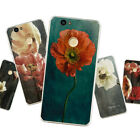 Soft TPU Case for Huawei Honor Lenovo All Models Silicone Matte Back Cover Flora
