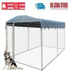 Outdoor Large Dog Kennel Crate Pet Enclosure Run Cage House w/Cover 2 Sizes, used for sale  USA