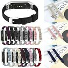 Canvas Watch Replacement Band Strap + Metal Frame For Samsung Galaxy Fit-E New
