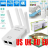 300Mbps Wifi Repeater Wireless AP Router Extender Signal Booster Through Wall