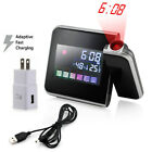 Best LED Digital Projection Alarm Clock Weather Thermometer Snooze Backlight US