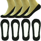Womens 3-12 Pairs Lace Black No Show Liner Loafer Invisible Nonslip Boat Socks