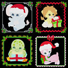 CHRISTMAS BABY ANIMALS -4inch-10 Machine Embroidery DesignsCD (FREE S