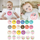 12PC Baby Monthly Milestone Photo Sharing Baby Belly Stickers Birth to 12 Months