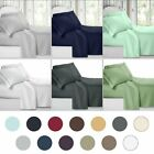Deep Pocket 4 Piece Bed Sheet Set 1800 Count Egyptian Comfort Sheets TO image