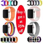 Silicone Nylon Stainless Steel Band Strap For Apple Watch 1/2/3/4 38/42/40/44mm image
