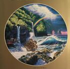 "Christian Riese Lassen Art Print 10"" x 10"" Round with Gold Border Landscape Sea"