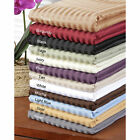Twin Size 6 PCs Sheet Set High Deep Pocket Egyptian Cotton Striped Colors image