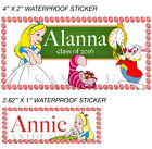 Alice in Wonderland Stickers, Custom Alice in Wonderland Labels