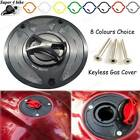 Motorcycle Aluminum Keyless Fuel Tank Cap For Honda Hawk GT NT650 1988 - 1991