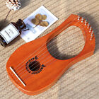 7-String Lyre Harp Metal Strings High-Quality Mahogany Wood Musical Instruments