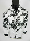 Mens Pavini Limited Ed. Shirt Slim Fit Black White Abstract Pattern Button Front $19.95 USD on eBay