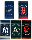 "MLB Striped Beach Towels 30"" x 60"" by The Northwest Company on Ebay"
