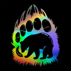 Funny Bear Paw Print Wall Decal Animal Vinyl Art Sticker Decal Home Decoration