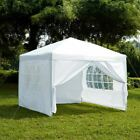 2.5x2.5m Sides Pop Up Gazebo Marquee Tent Garden Party Waterproof Windbars Bag