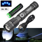 990000 Lumens Zoomable XHP50 5 Modes LED USB Rechargeable 18650 Flashlight Torch